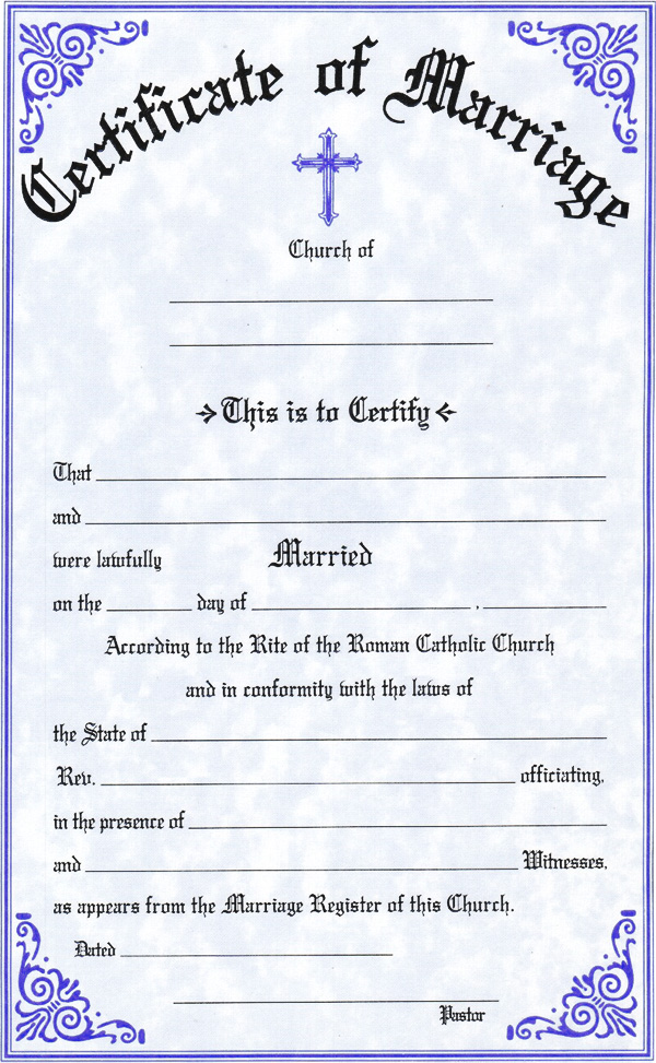 Catholic Marriage Certificate Template Related Keywords And Tags